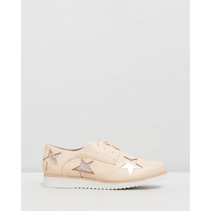 Maze Star Lace-Up Shoes Blush & Rose by Walnut Melbourne