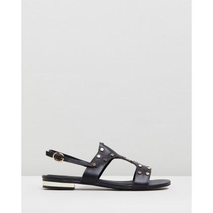 Sangria Stud Sandals Black by Walnut Melbourne