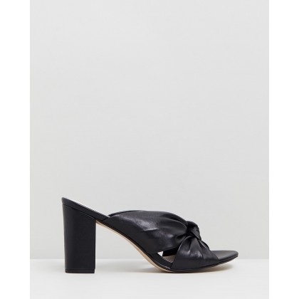 Parade Leather Block Heels Black by Walnut Melbourne