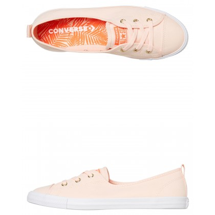 Womens Chuck Taylor All Star Ballet Shoe Washed Coral