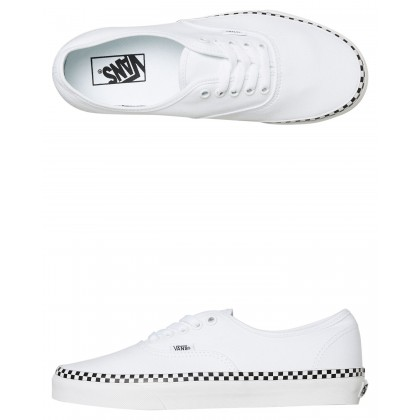 Womens Authentic Shoe White Check