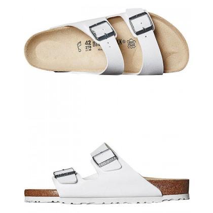 Mens Regular Arizona Sandal White