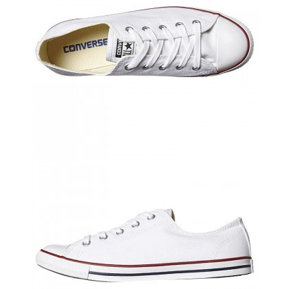 Chuck Taylor Womens All Star Dainty Shoe White Red Blue