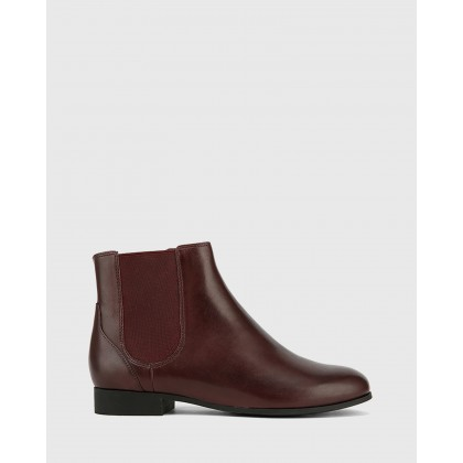 Daley Gusset Ankle Boots Red by Wittner
