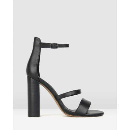 Tower Block Heel Sandals Black by Zu