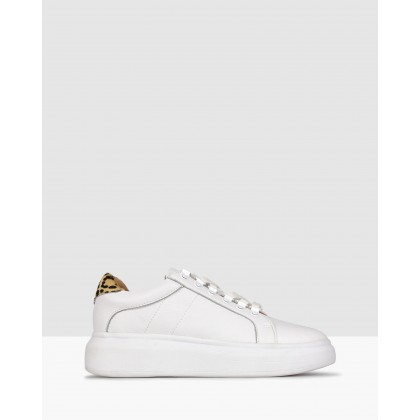 Torque Leather Lifestyle Sneakers White by Zu