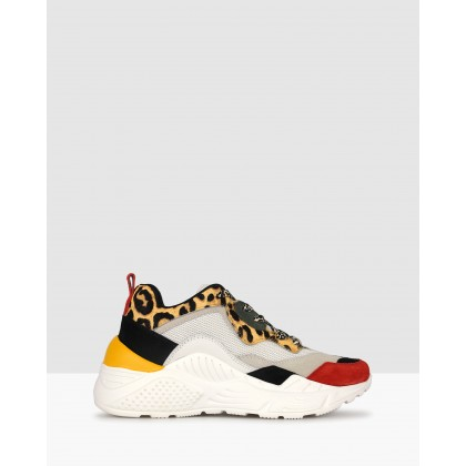 Scorch Leather Lifestyle Sneakers Leopard by Zu