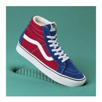 (Two-Tone) True Blue/Chili Peppere - COMFYCUSH SK8-HI REISSUE BLUE Sale Shoes by Vans