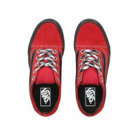 (90S Retro) Chili Pepper/Black - Old Skool 90s Retro Lug Platform Red Sale Shoes by Vans